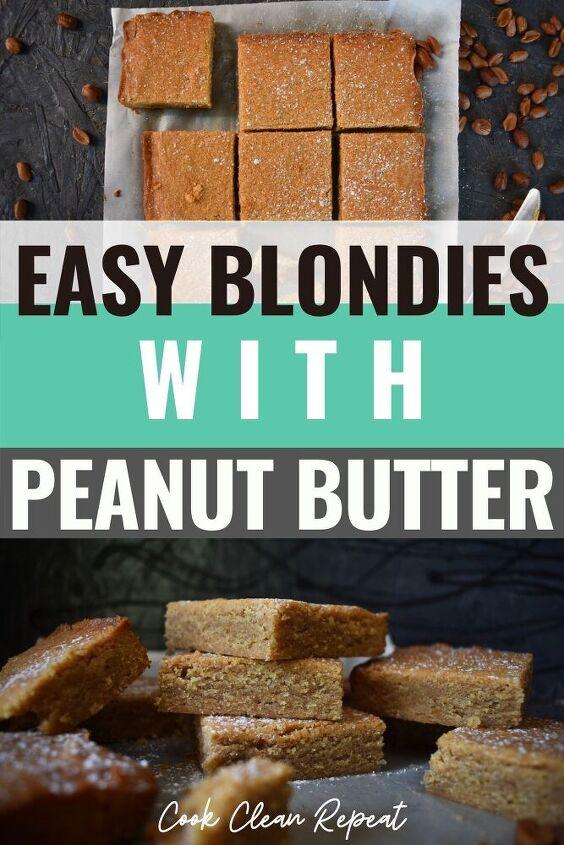 easy peanut butter blondies