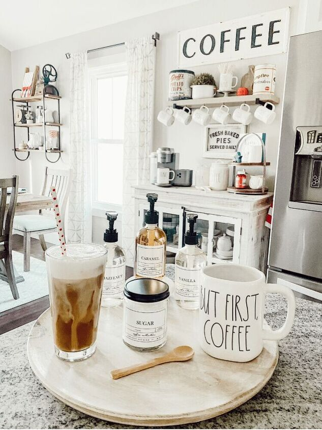 the easiest iced coffee recipe ever, I was recently gifted these beautiful glass coffee jars and sugar pot from a small company called Church St Designs I will link them below but be sure to go check out this amazing shop They also do cleaning labels and so much more And you can customize them too