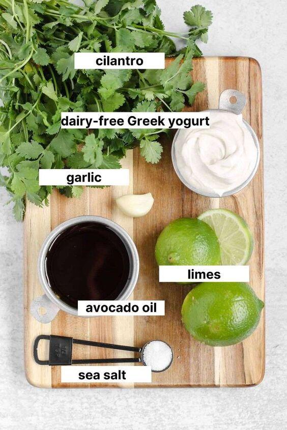 creamy cilantro lime dressing dairy free