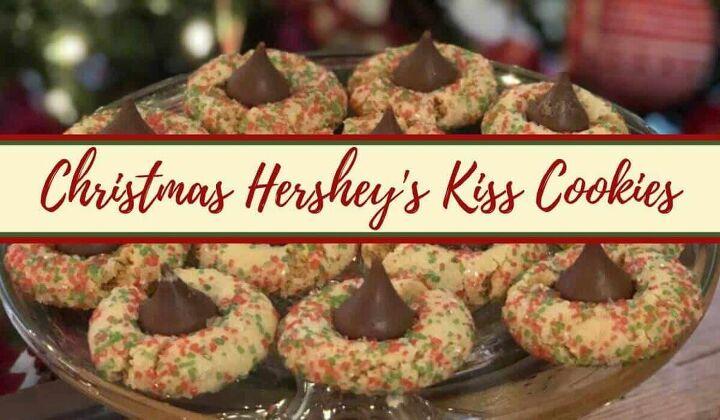 christmas hershey s kiss cookies