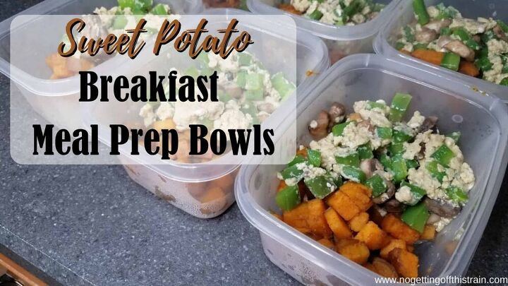 sweet potato breakfast meal prep bowls no getting off this train