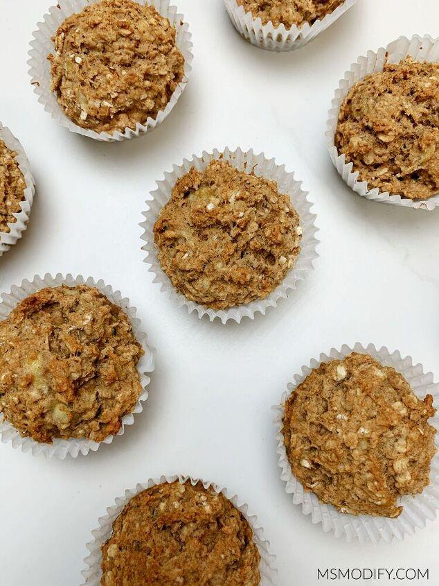 gluten free banana oatmeal muffins