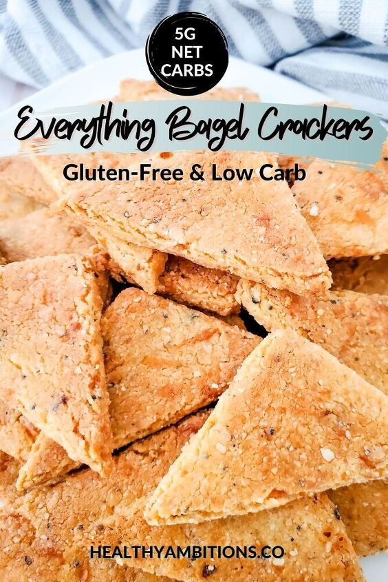 everything bagel keto crackers