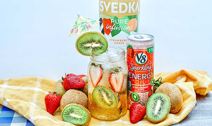 strawberry kiwi vodka cocktail recipe