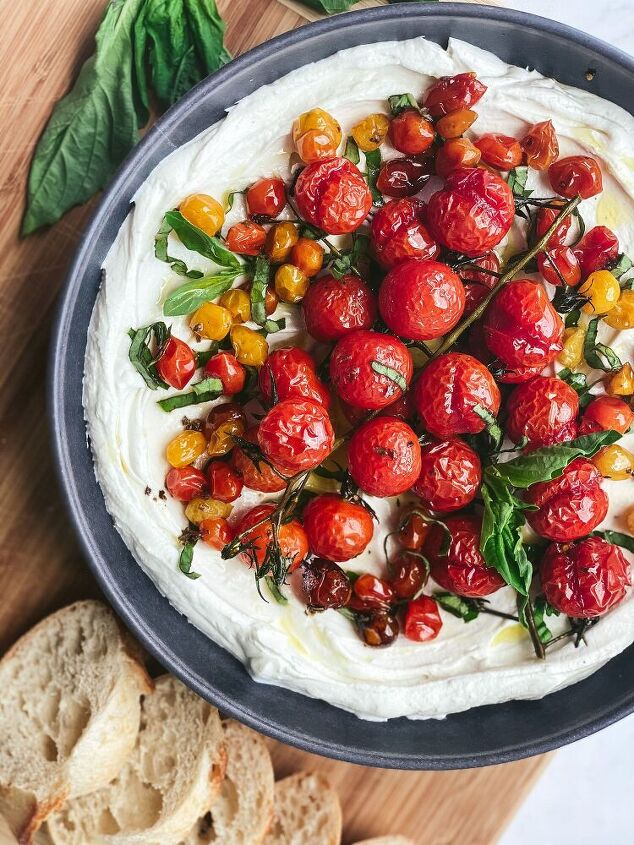 whipped goat cheese with slow roasted tomatoes