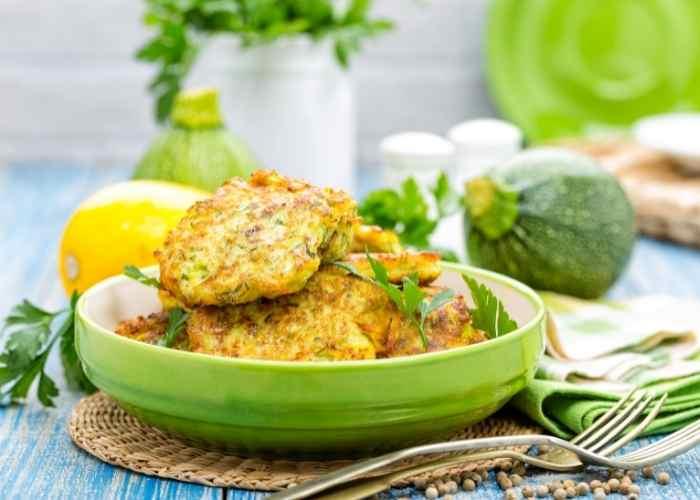 fried zucchini fritters recipe