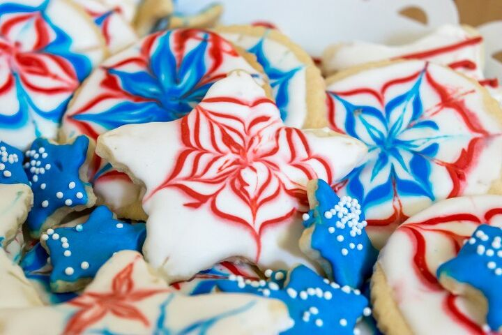 s 12 delicious red white and blue desserts for your july 4th bbq party, 4th of July Cookies Recipe Nourish and Nest