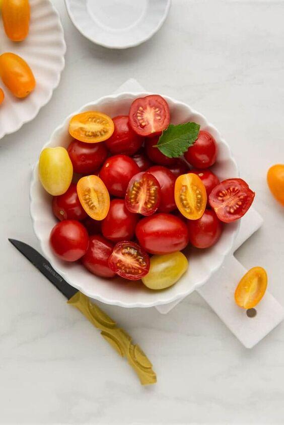 juicy tomato pomegranate salad simple yet refreshing, Mixed Cherry Tomatoes