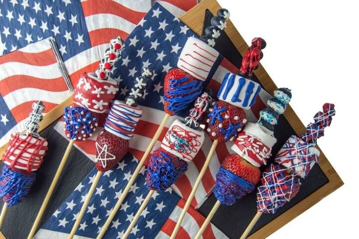 patriotic marshmallow pops with fruit for 4th of july parties