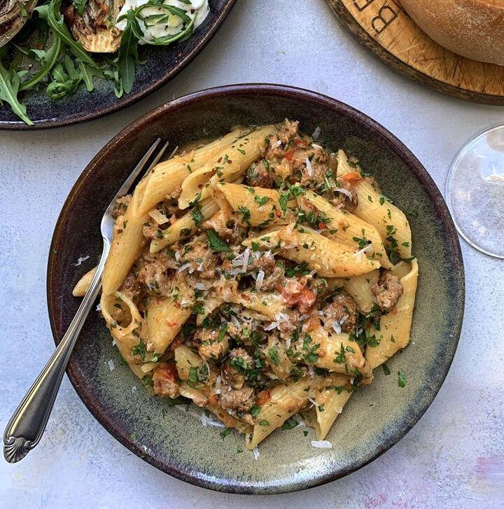 dad s italian sausage pasta