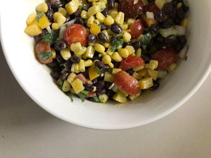 black bean corn salad with cilantro lime vinaigrette