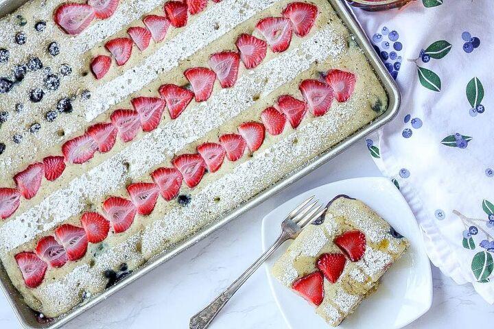 summer berry sheet pan pancakes