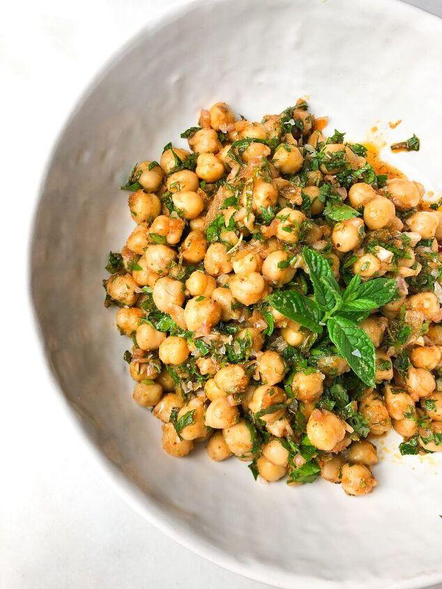chickpea herb salad
