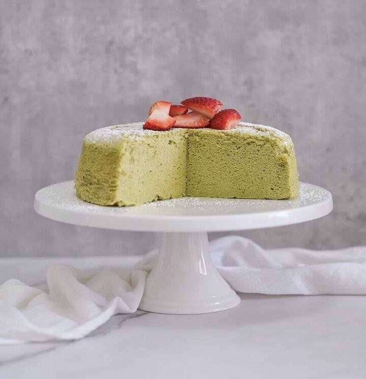 matcha japanese cotton cheesecake