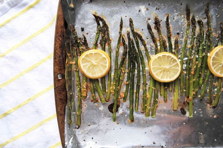 quick garlic lemon asparagus
