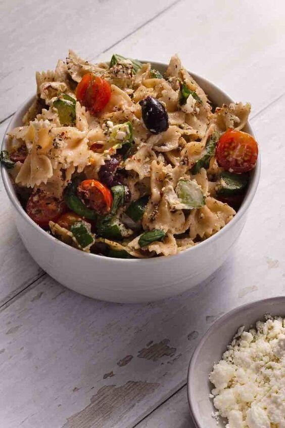 gluten free pasta salad w low fodmap dressing, Gluten Free Pasta Salad with Low FODMAP Italian Dressing