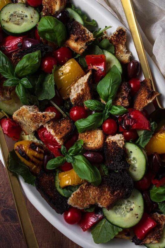 grilled panzanella salad, Italian Panzanella A low FODMAP Salad Recipe