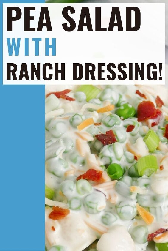 pea salad with ranch dressing