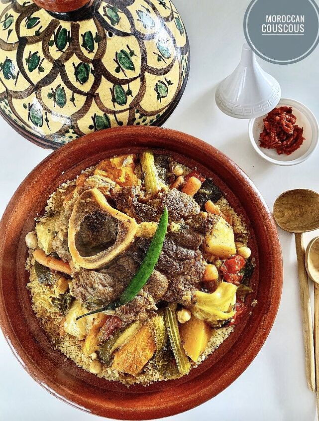 vegetables and beef couscous