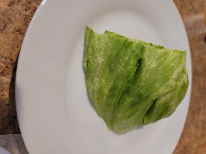 veggie burger on a lettuce bun 5 point on ww