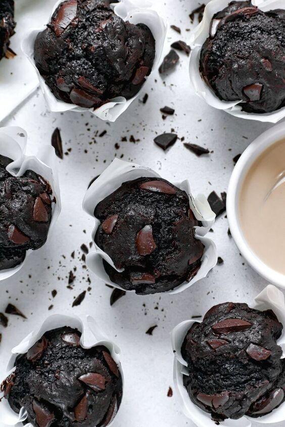 double chocolate tahini muffins