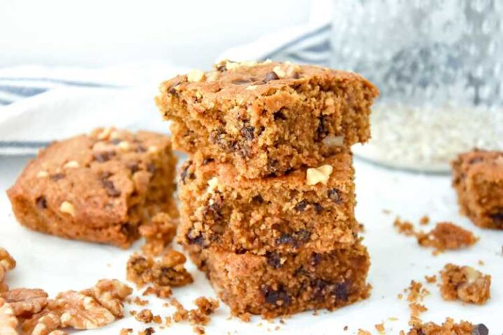 chocolate chip cookie oat bars