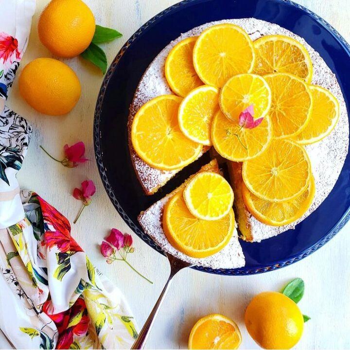 cake with oranges