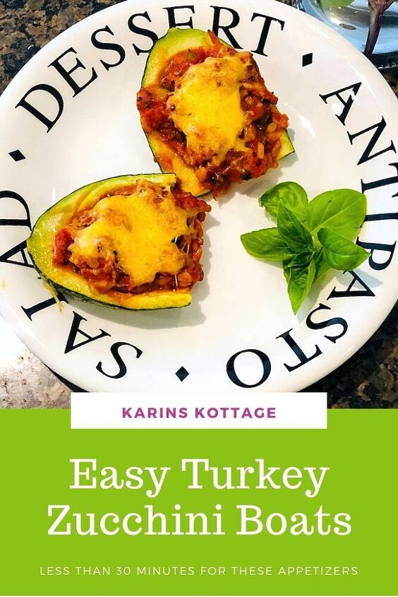 how to make turkey zucchini boat appetizers