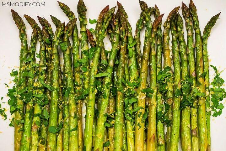 lemon herb roasted asparagus