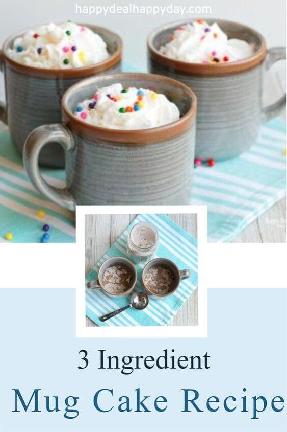 3 ingredient mug cake recipe