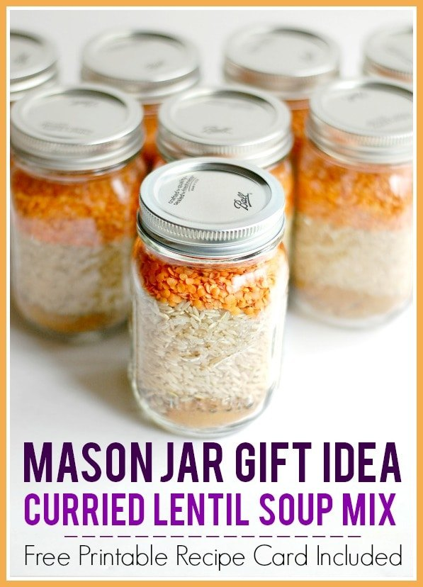 dry soup mix in a jar recipes curried lentil soup with free printabl