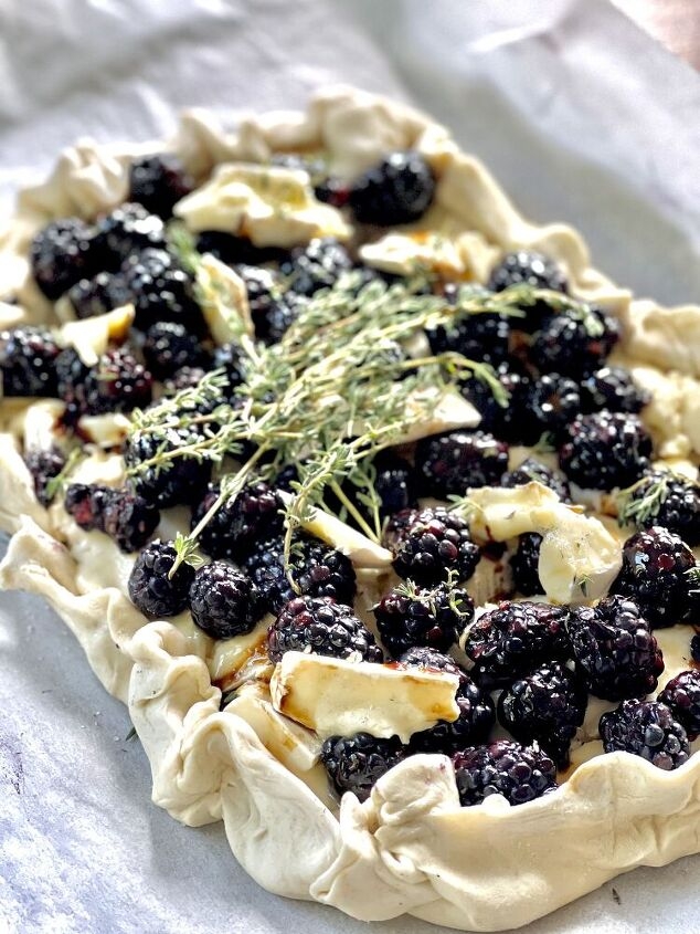 brie and blackberry galette