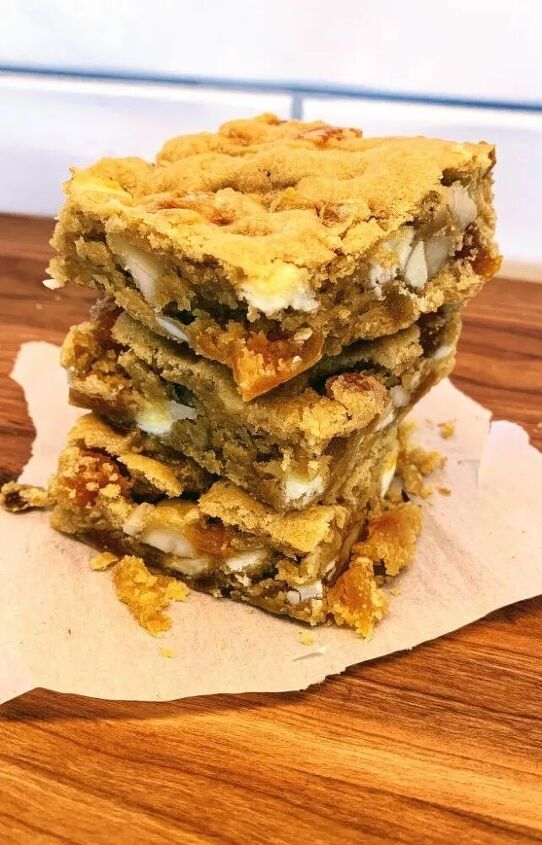 nutty apricot blondies the great british baking show