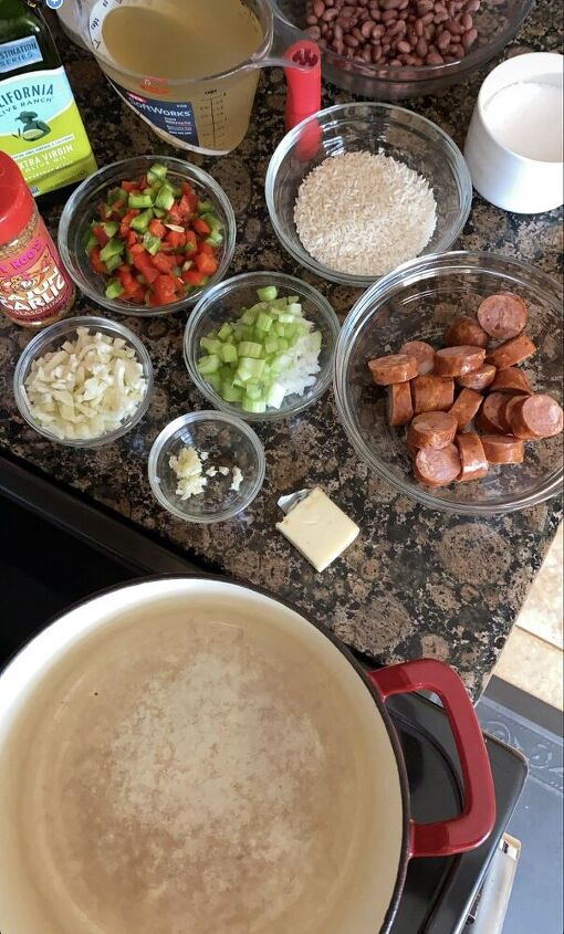 rice and beans with andouille sausage, Here s what s going into this recipe
