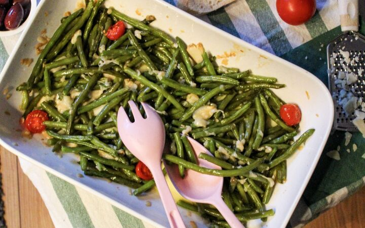 s 12 ways to serve greens to kids, Cheesy Roasted Green Beans