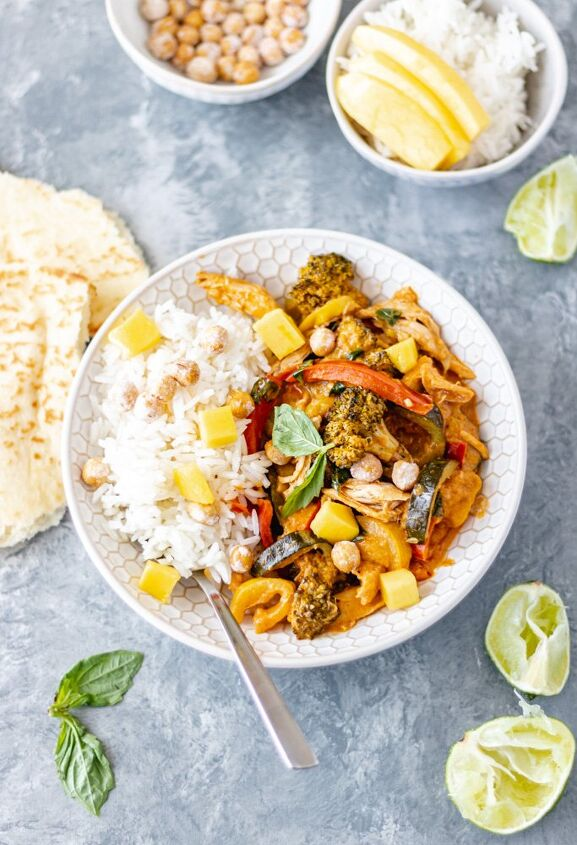 chicken vegetable coconut curry