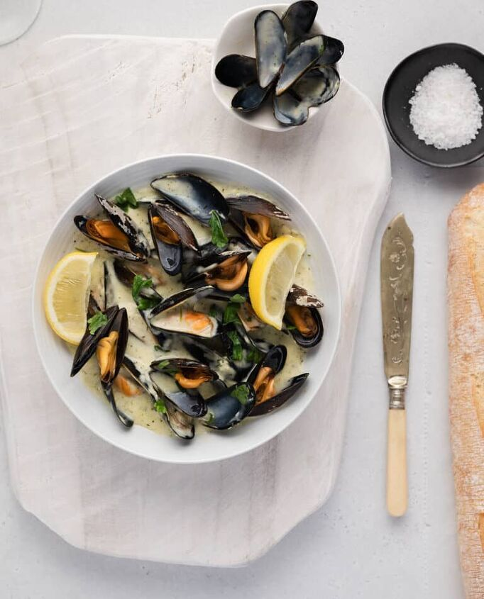creamy lemon mussels sauce easy one pot meal