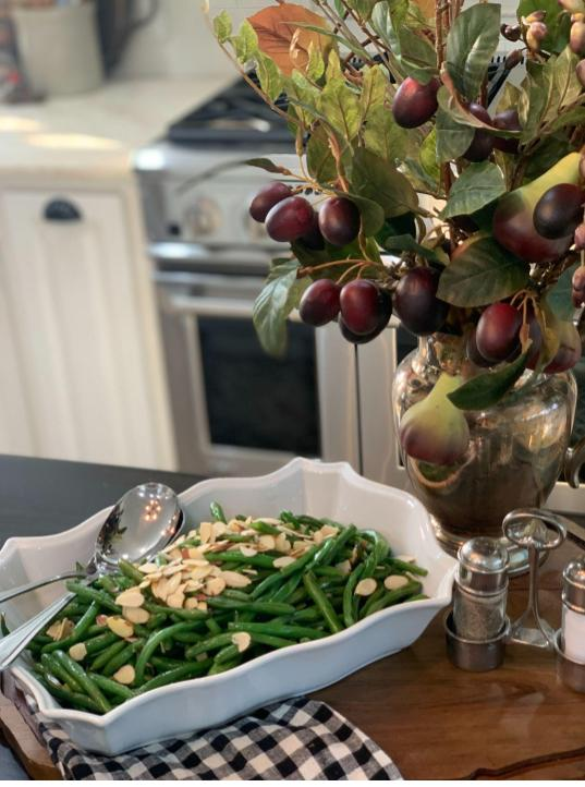how to make quick and easy greenbean almondine, Yum