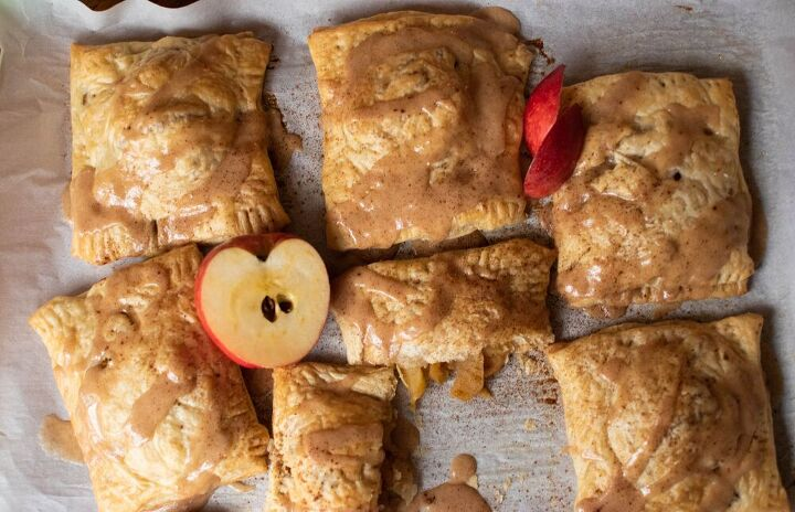 decadent apple spice pastries with brown butter glaze