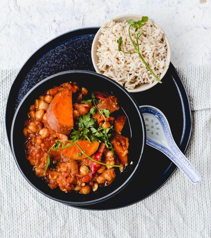 slow cooker sweet potato chickpea chorizo stew