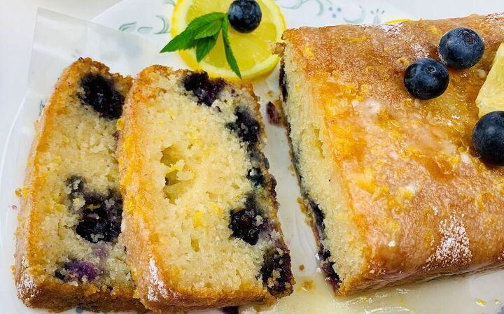 lemon blueberry cake eggless