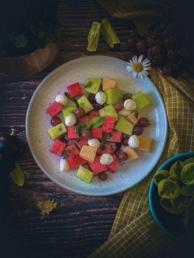 melon bocconcini salad