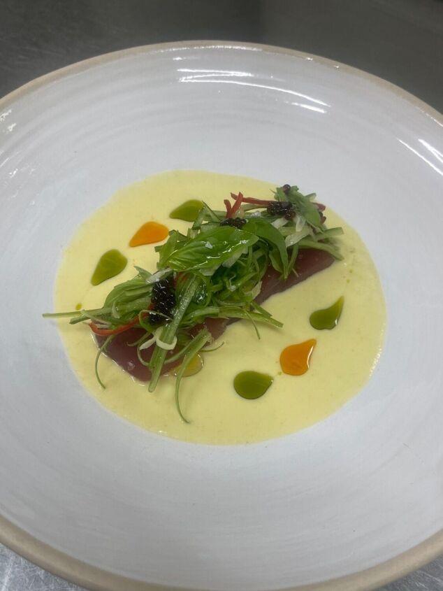 s 12 seafood dishes to enjoy on summer vacation, Summer Gazpacho Sashimi Tuna