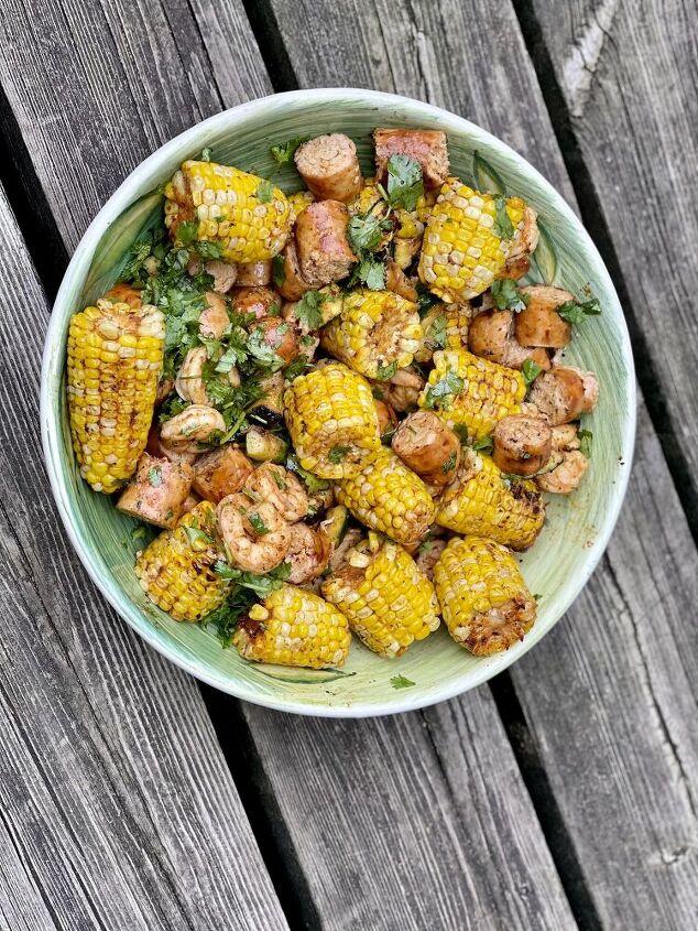 cajun corn seafood and sausage grill