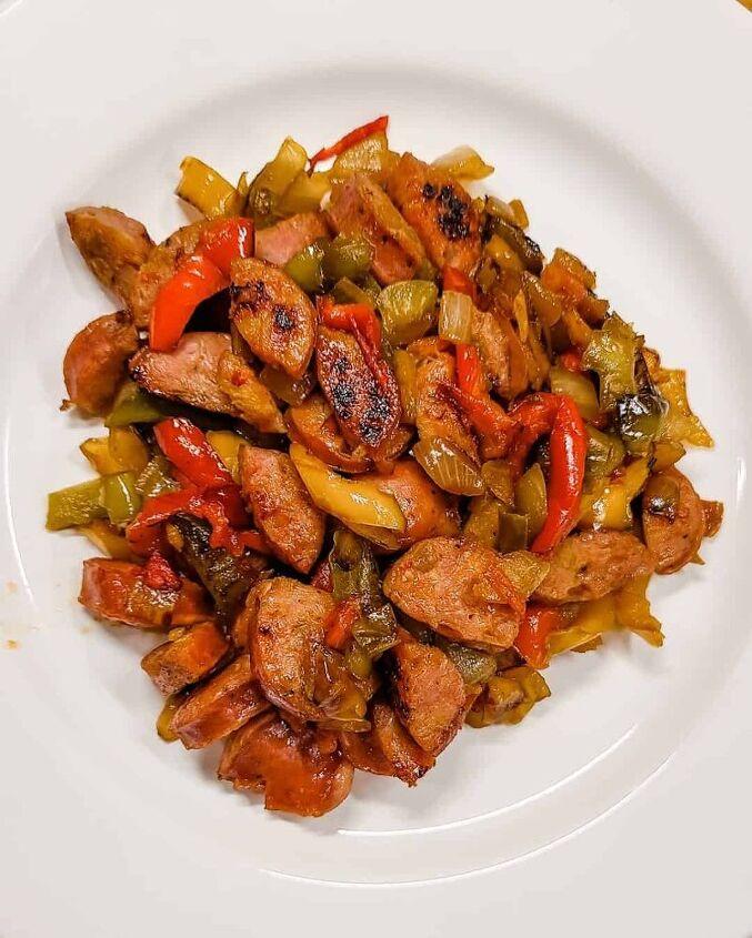 skillet sausage peppers