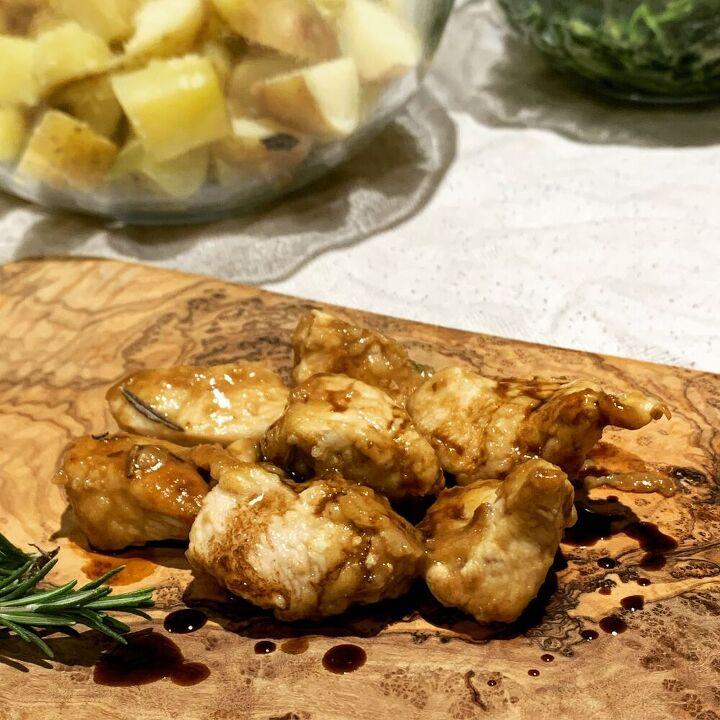 balsamic chicken bites