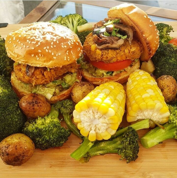 the best sweet potato and chickpeas burger patties