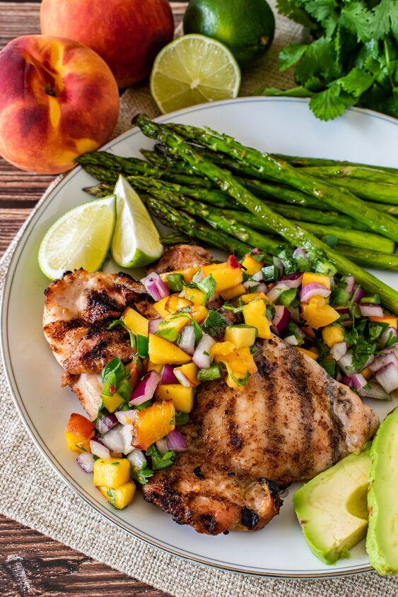 grilled chipotle chicken with peach salsa