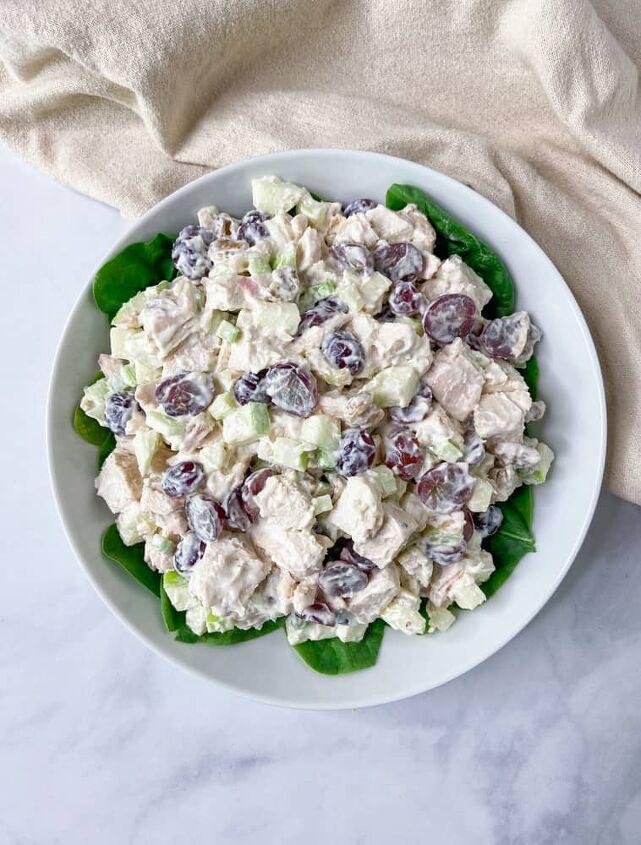 healthy chicken waldorf salad