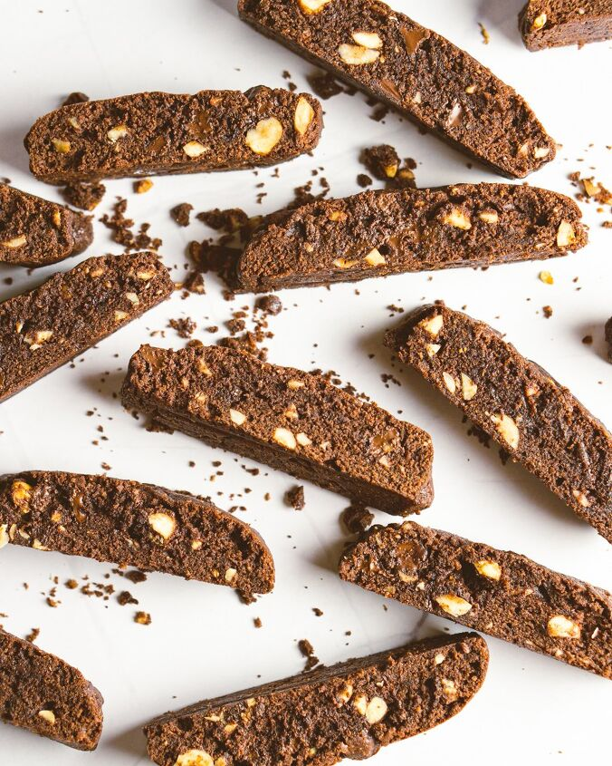 chocolate hazelnut mandel bread